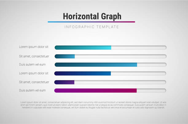 vector modern infographic template with colorful progress bars - postęp stock illustrations
