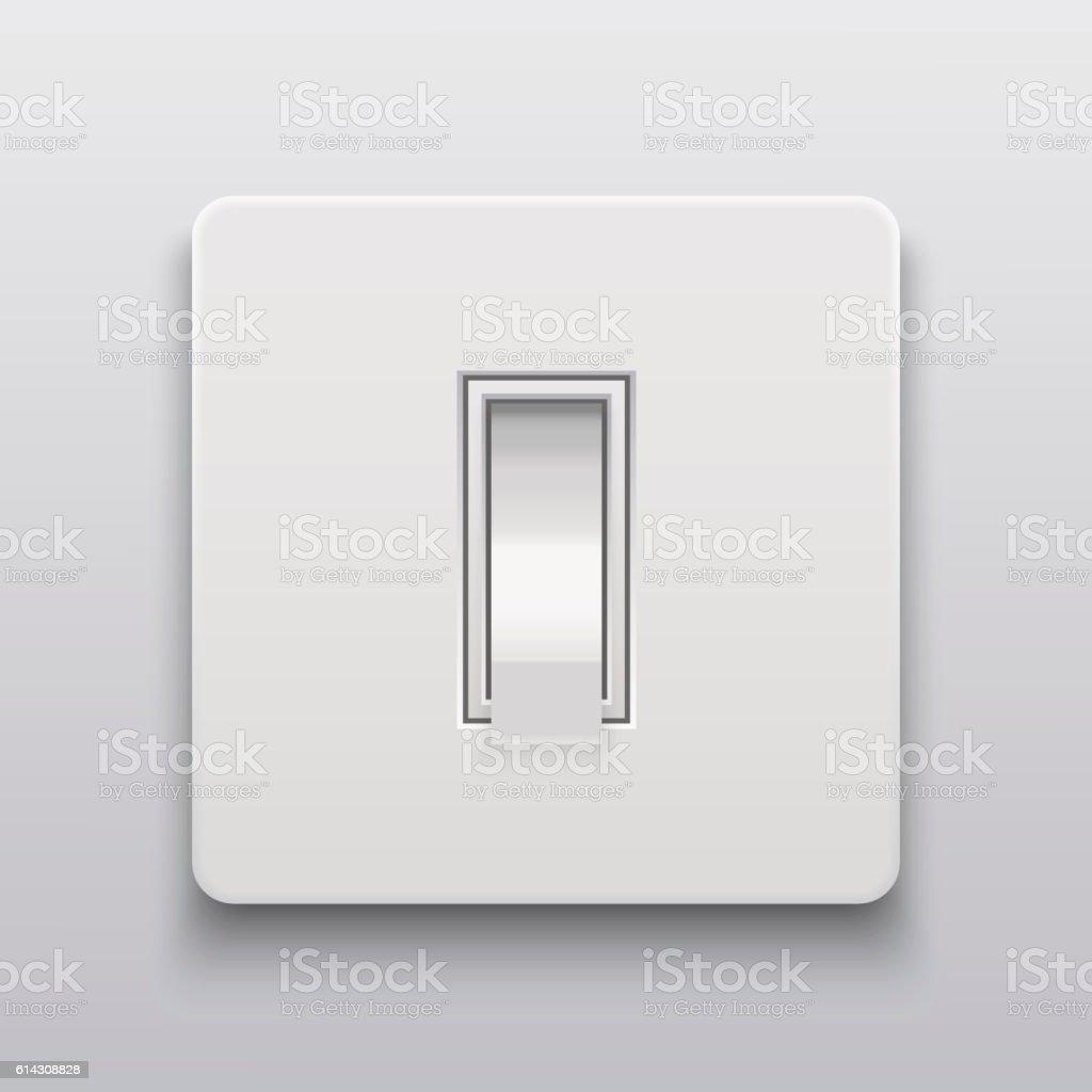 Vector Modern Light Switch Icon Background Lizenzfreies Vektor Illustration