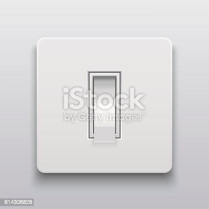 Vector Modern Light Switch Icon Background Vektor Illustration 614308828