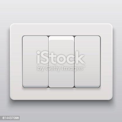 Vector Modern Light Switch Icon Background Vektor Illustration 614437098