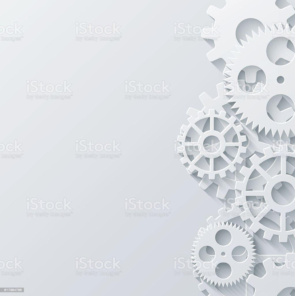 Vector modern mechanism industrial concept. Technology gears background. vector art illustration