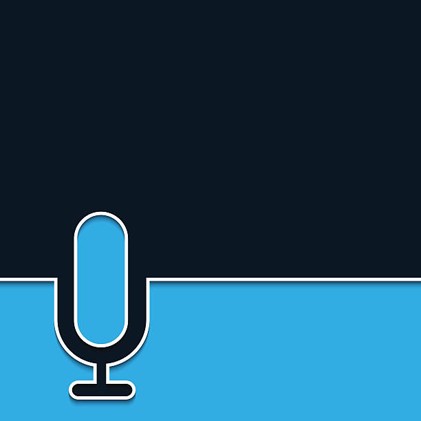 vector modern microphone online background. - podcast stock illustrations