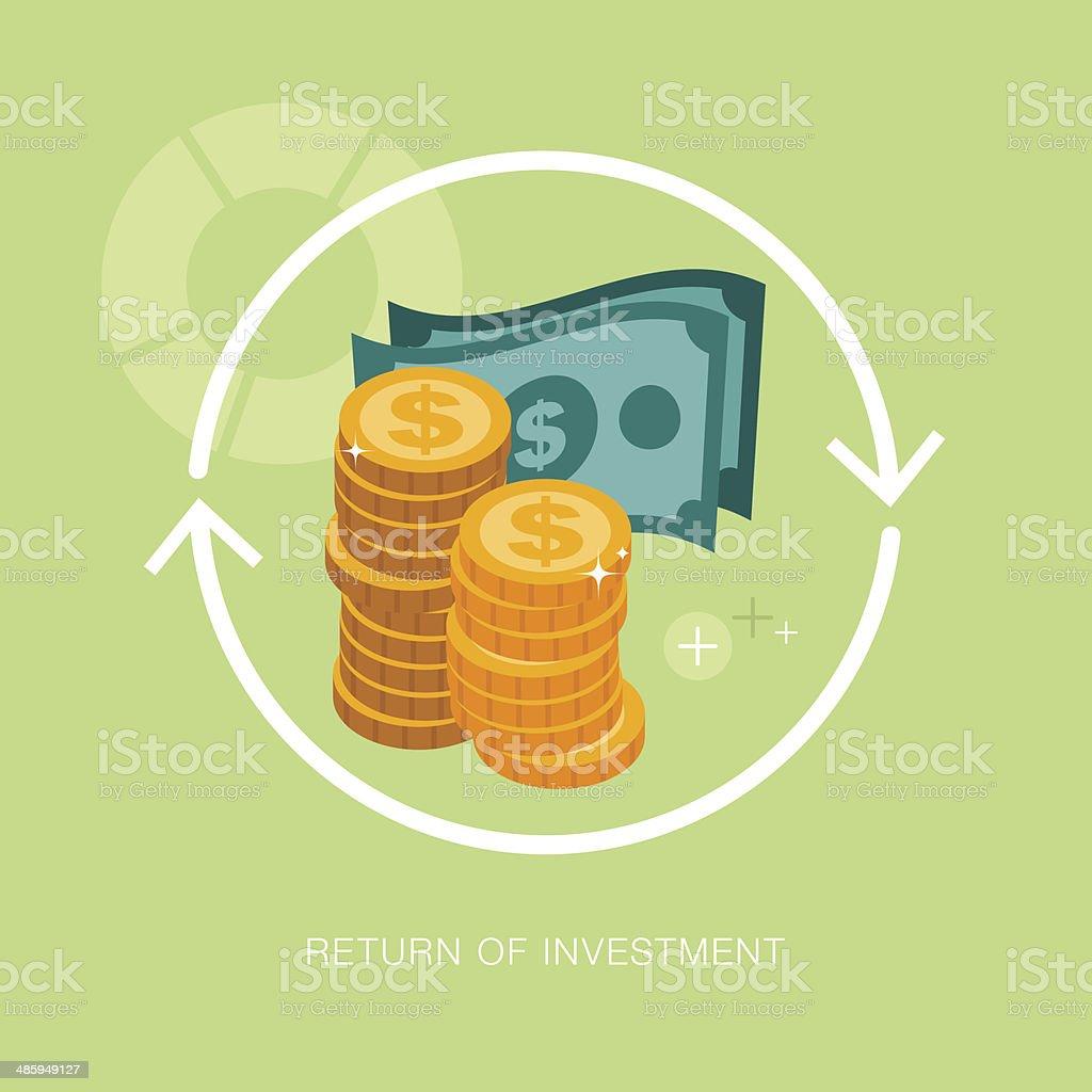 vector modern return of investment concept illustration vector art illustration