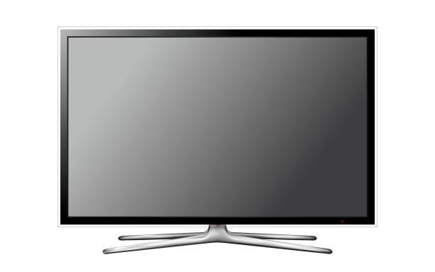 Vektor-moderne TV-Bildschirm auf weißem Hintergrund – Vektorgrafik