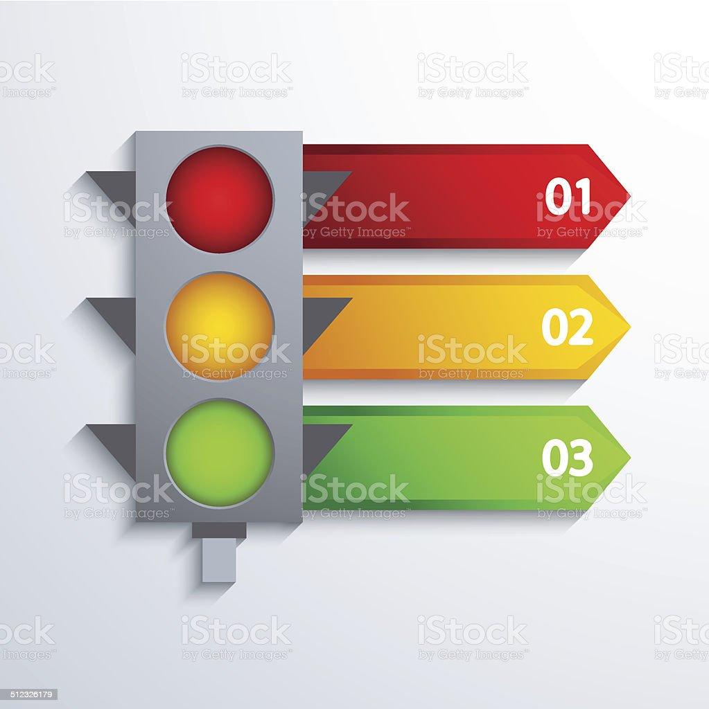Vector modern traffic infographic background. vector art illustration