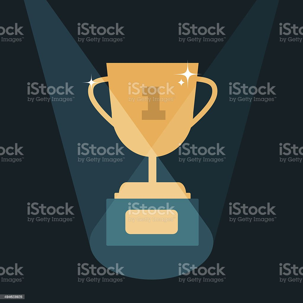 vector modern trophy illustration royalty-free stock vector art