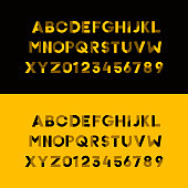 Vector modern urban alphabet font and numbers