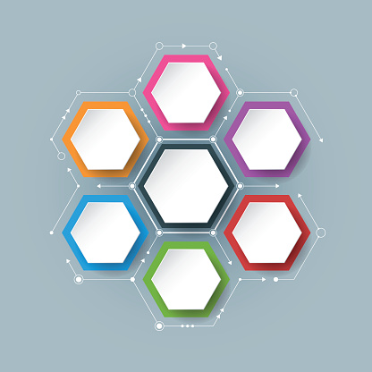 Vector Molecule With Integrated Hexagon Background Stock ...