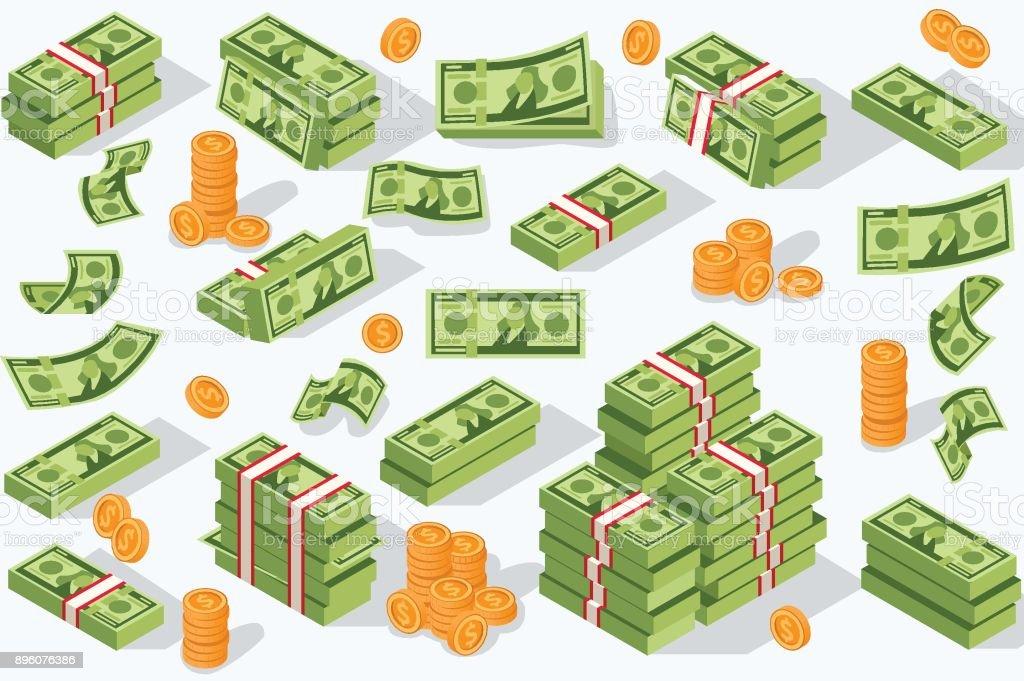 Vector divisas de dinero - ilustración de arte vectorial
