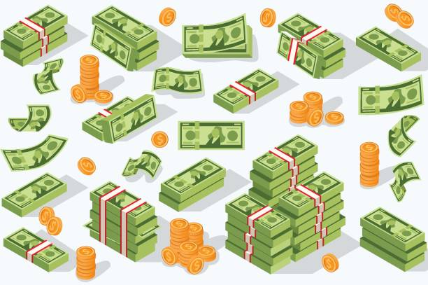 vector money currency - banknot stock illustrations
