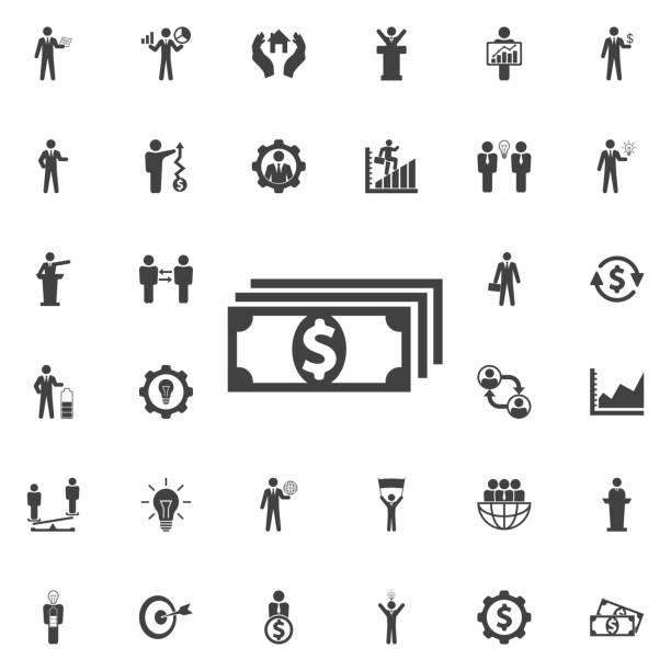 vektor-geld symbol. - geldstrafe stock-grafiken, -clipart, -cartoons und -symbole