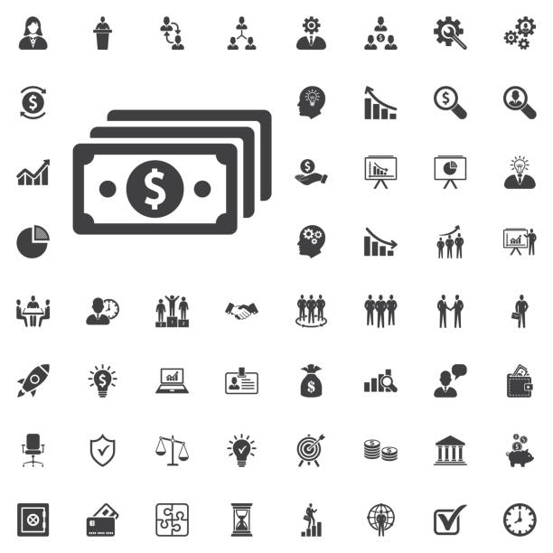 vector money icon - dollar bill stock illustrations