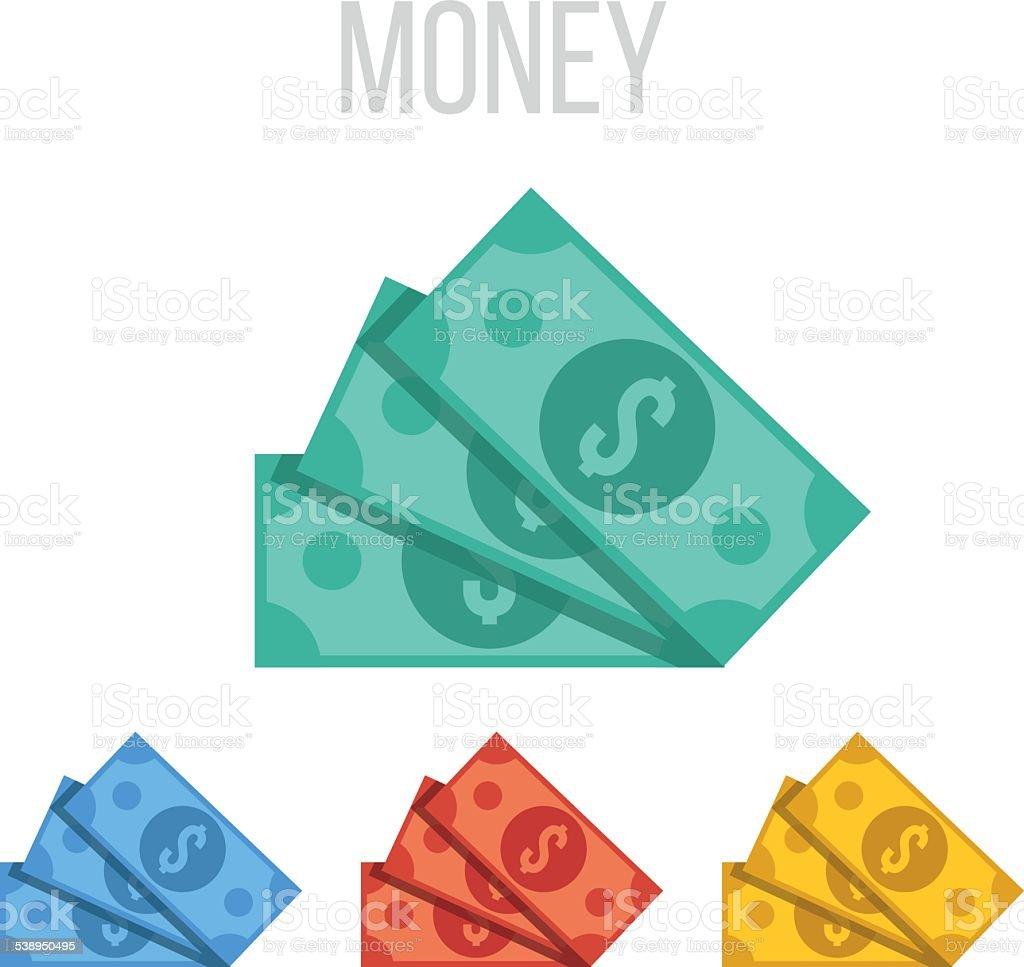 Vector money icons vector art illustration