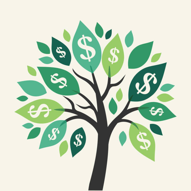 Vector money tree - symbol of successful business Vector money tree - symbol of successful business  money tree stock illustrations