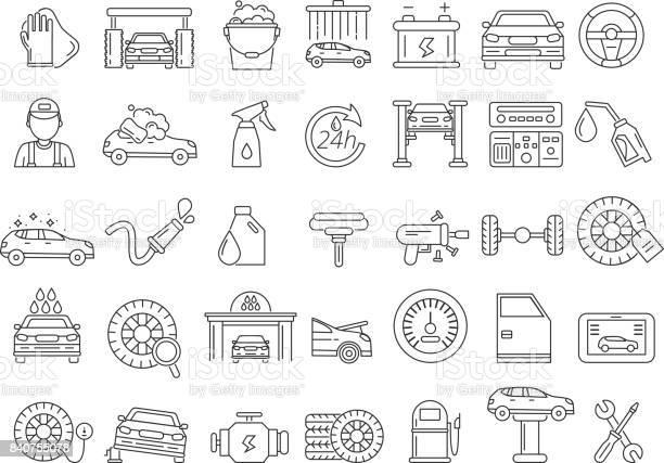 Vector mono line pictures of automobile parts repair car services vector id840755078?b=1&k=6&m=840755078&s=612x612&h=9ghsut5fjiv0xglp5mvxf e3banthakmg258gdvz n0=