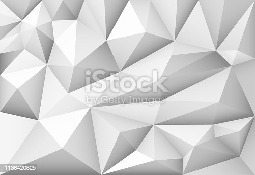 Vector monochrome abstract polygonal geometric triangle background