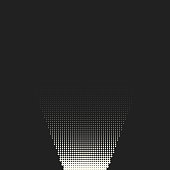 Vector monochrome circles halftone background.