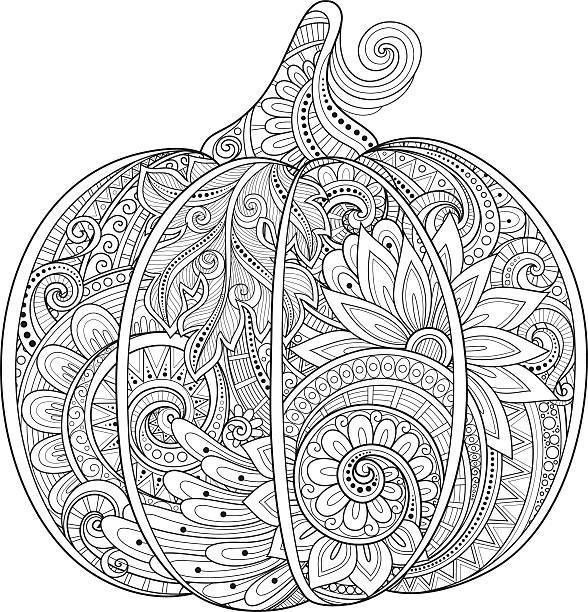 stockillustraties, clipart, cartoons en iconen met vector monochrome decorative punkim with beautiful pattern - volwassen