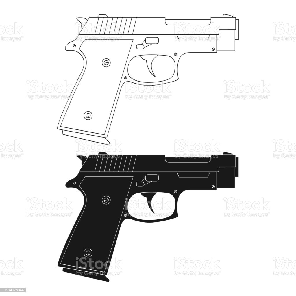 vector monochrome icon with pistol stock illustration download image now istock vector monochrome icon with pistol stock illustration download image now istock