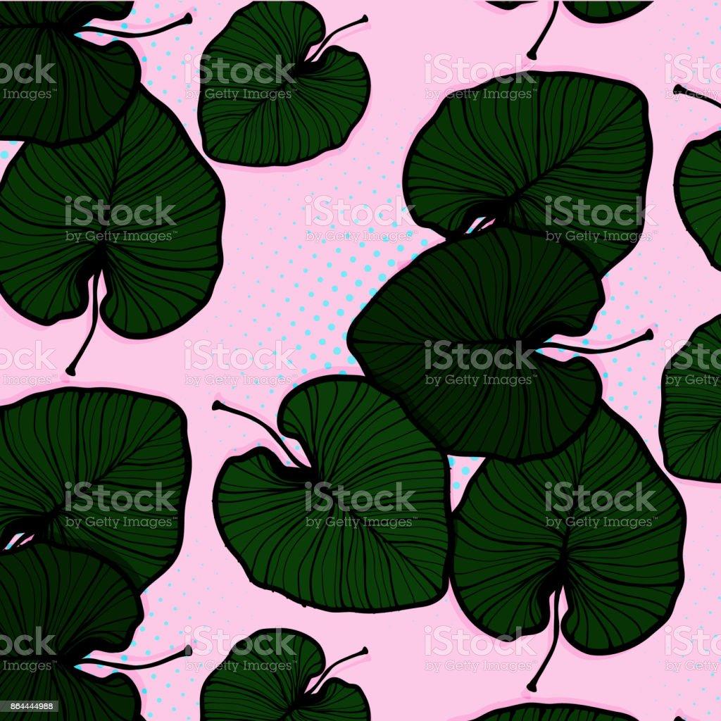 Vektor Monstera Lässt Auf Rosa Hintergrund Tropische Natur Muster ...