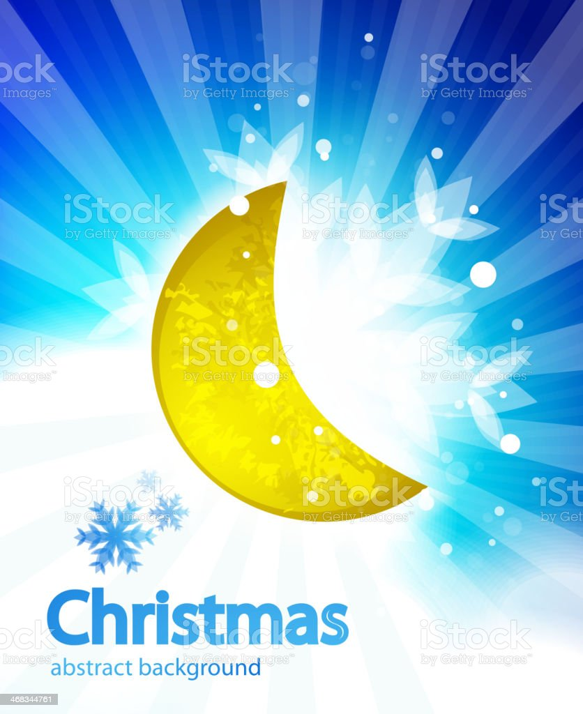 Vector moon christmas background royalty-free vector moon christmas background stock vector art & more images of abstract