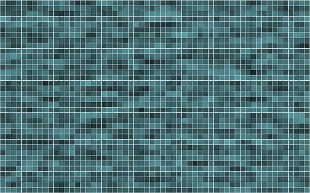 Vector mosaic background textured Vector mosaic background textured bathroom backgrounds stock illustrations