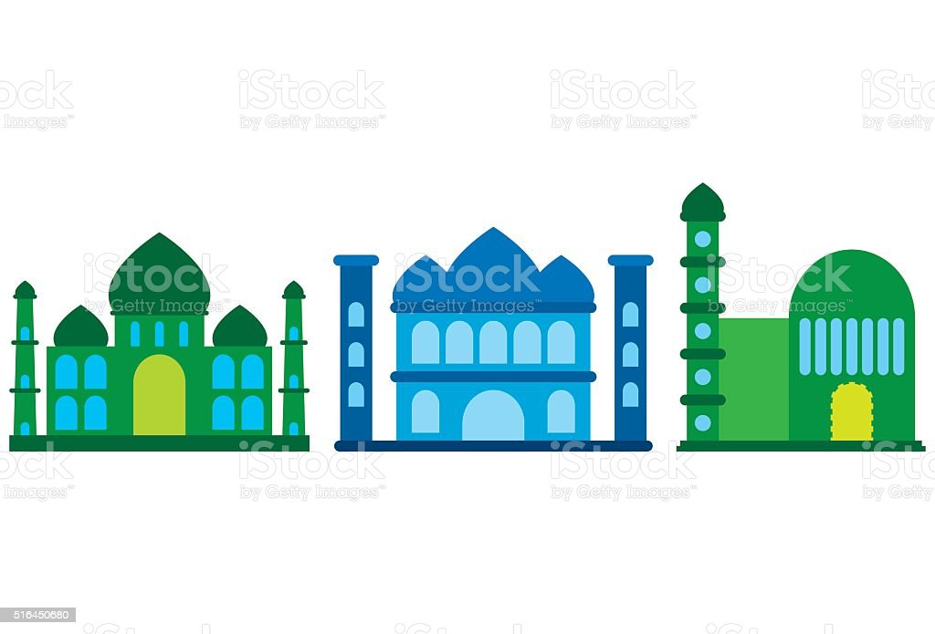 Vector Mosque Icon vector art illustration