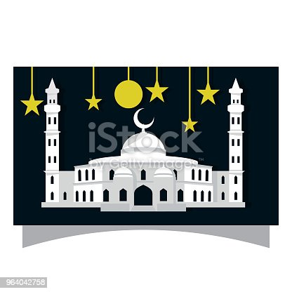 istock vector mosque white simple flat design 964042758