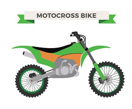 Vector motorcycle illustration. Moto bike isolated on white background