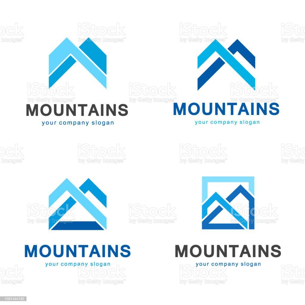 Vector mountains element design vector art illustration