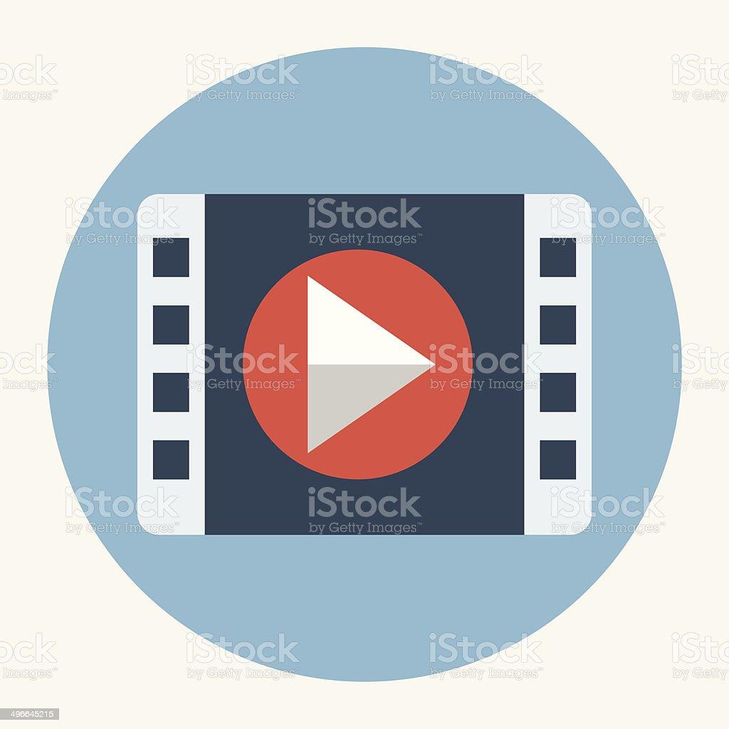 Vector movie play icon vector art illustration