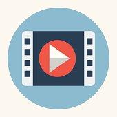 Vector movie play icon