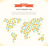 Vector multicolor stylized map