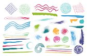 Vector Multicolored Hand Drawn Textures made with Ink