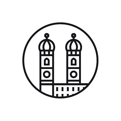 Vector Munich - Line Icon