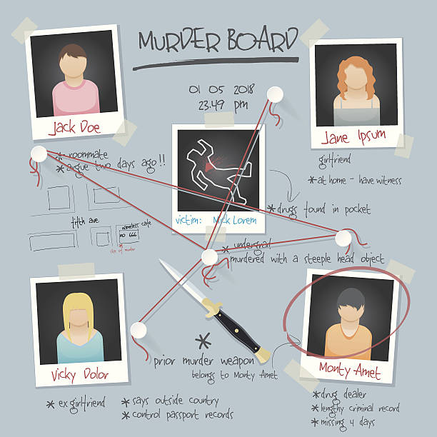vector murder board background vector murder board background  detective stock illustrations