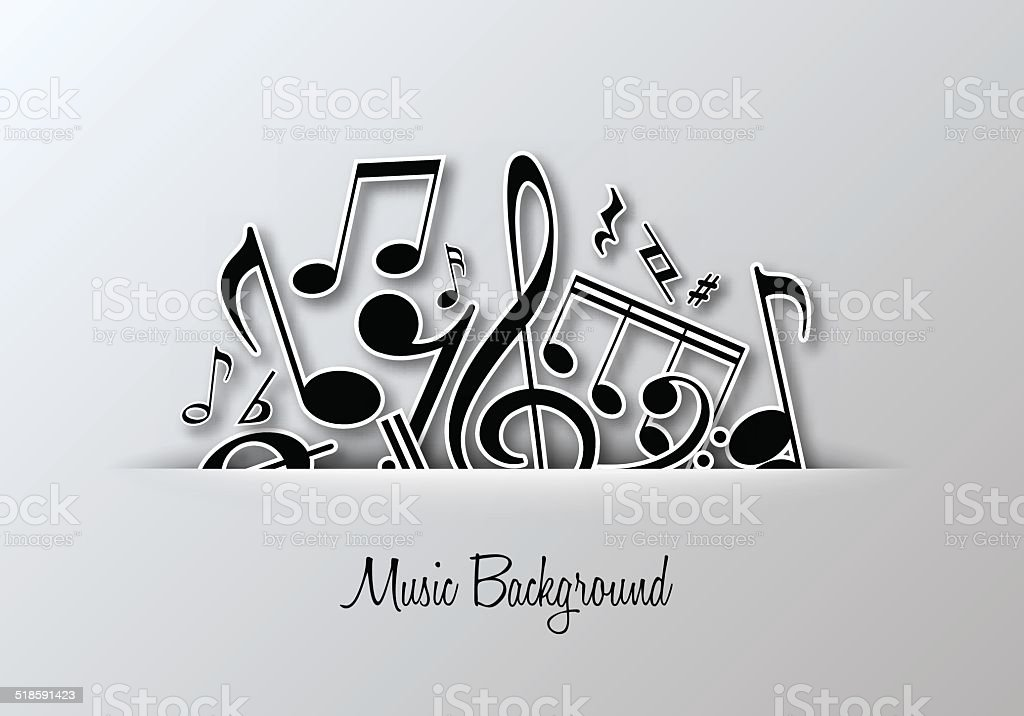 Vector Music background. vector art illustration