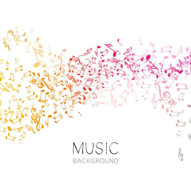 Vector Music Background vector art illustration