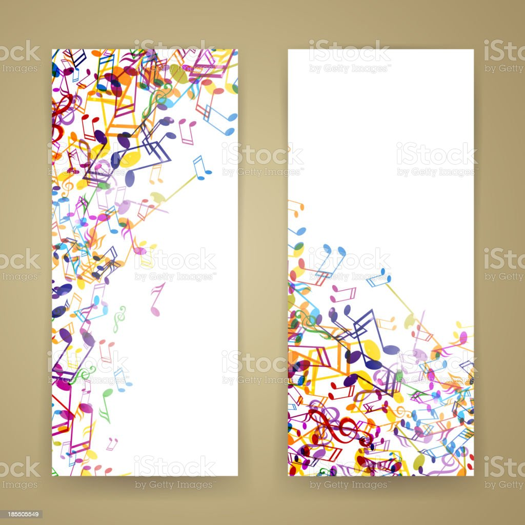 Vector Music Banners royalty-free stock vector art