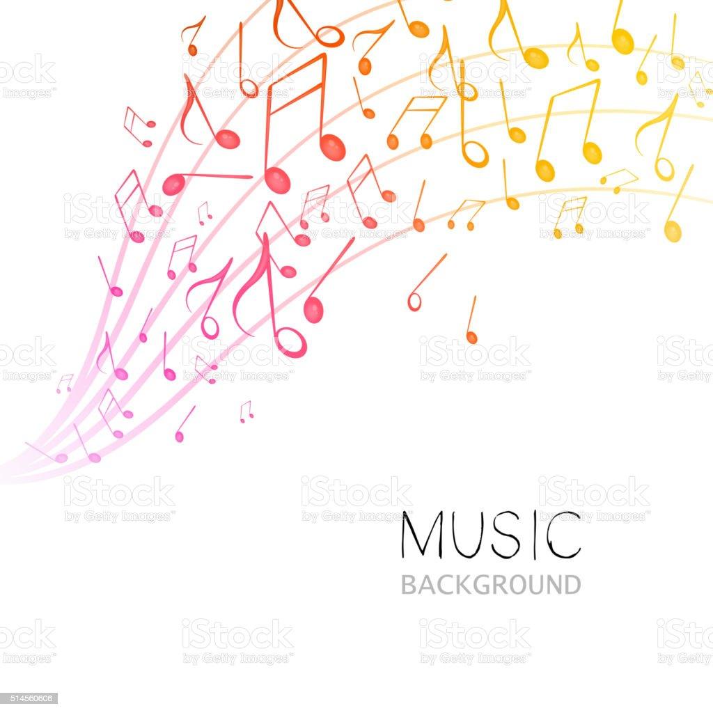 Vector Music Design Vector Illustration of an Abstract Music Design Abstract stock vector
