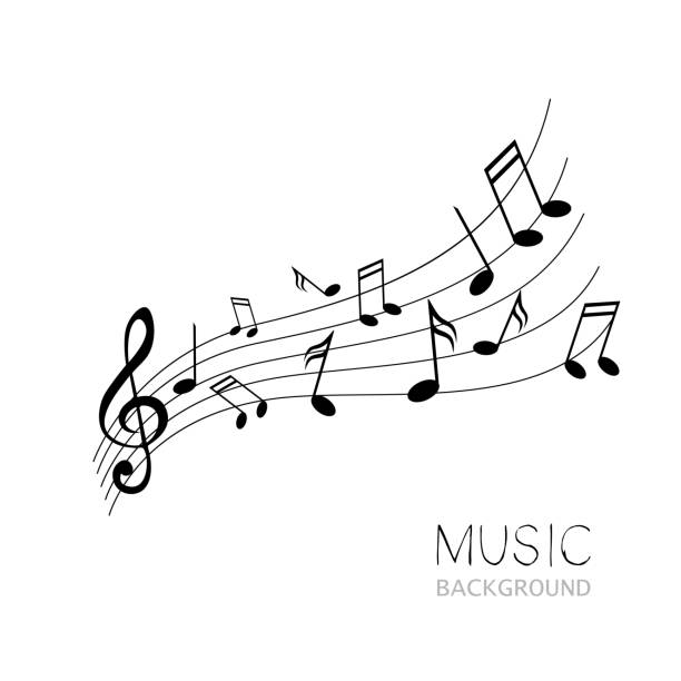 Vector Music Design vector art illustration