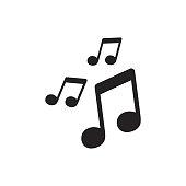 istock Vector music icon. Sound note illustration. 804271878