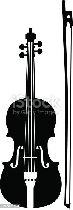 istock Vector Music Instruments - violin 502622625
