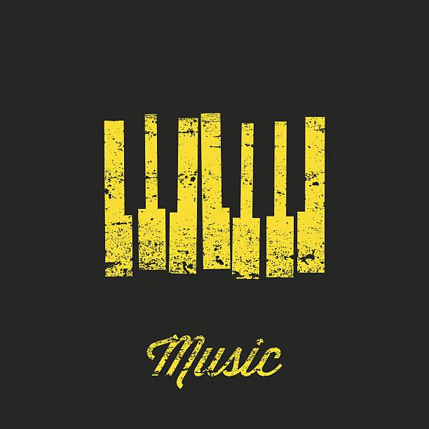 vector music keyboard. - piano stock illustrations