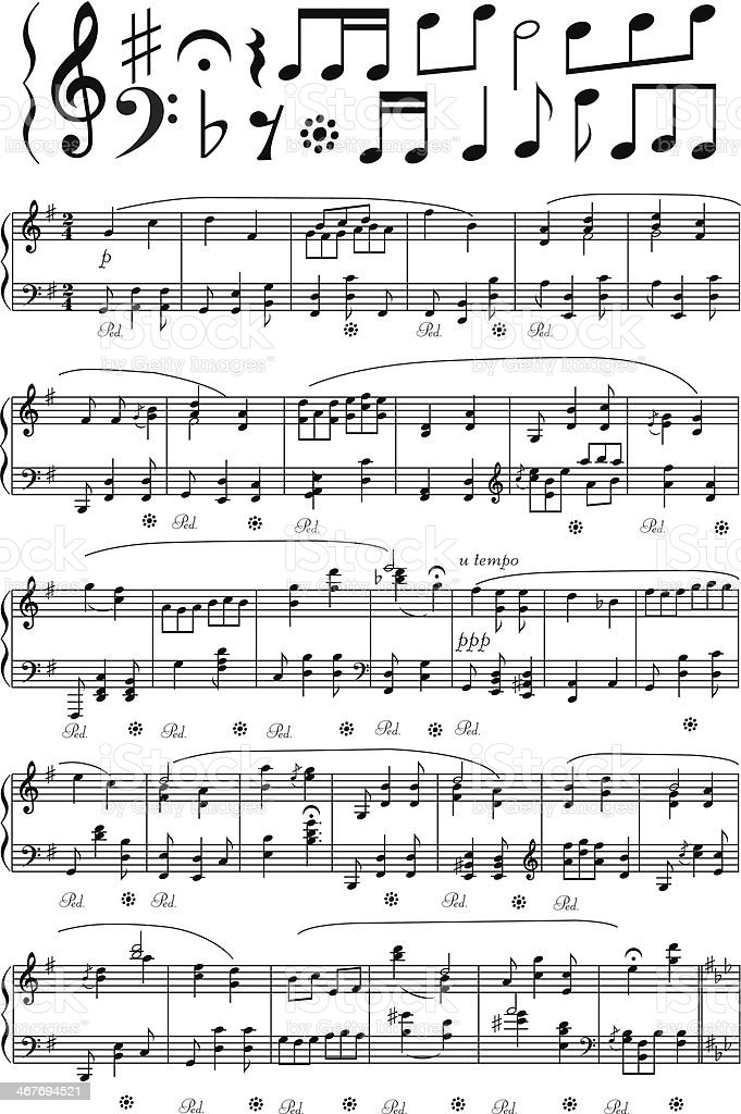 royalty free sheet music clip art vector images illustrations rh istockphoto com sheet music clipart images free sheet music clipart images