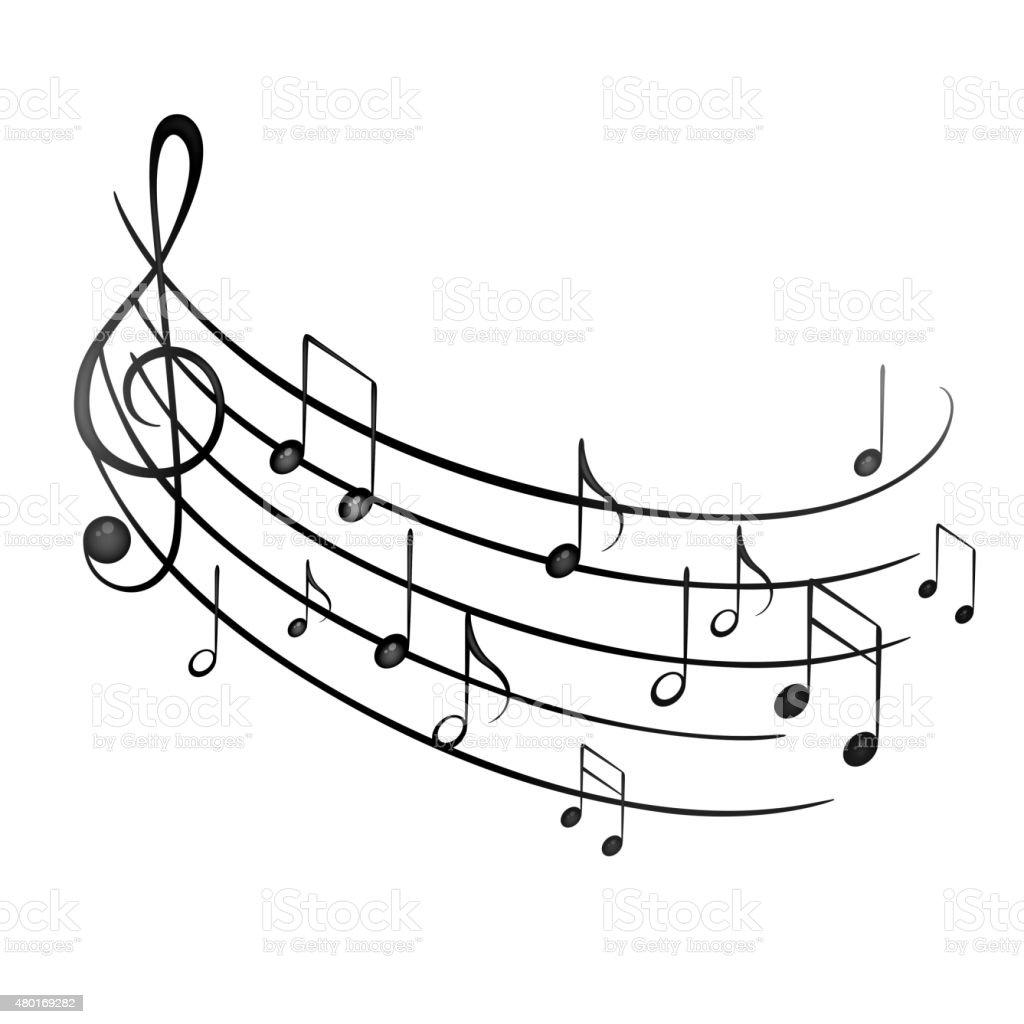 Vector Music Notes vector art illustration