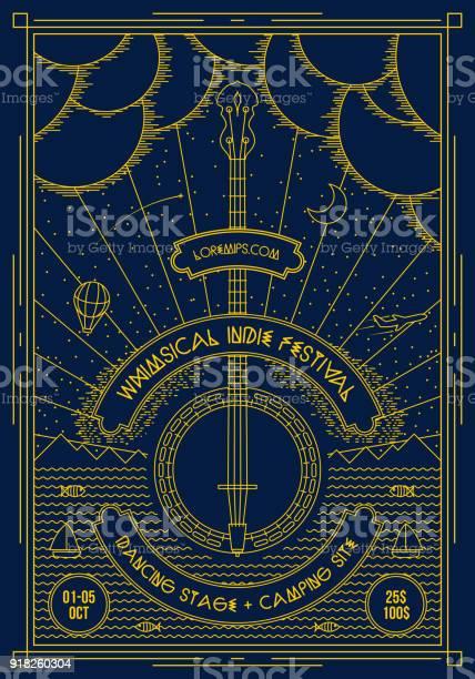 Vector Muziek Poster Achtergrond Sjabloon Stockvectorkunst en meer beelden van Abstract