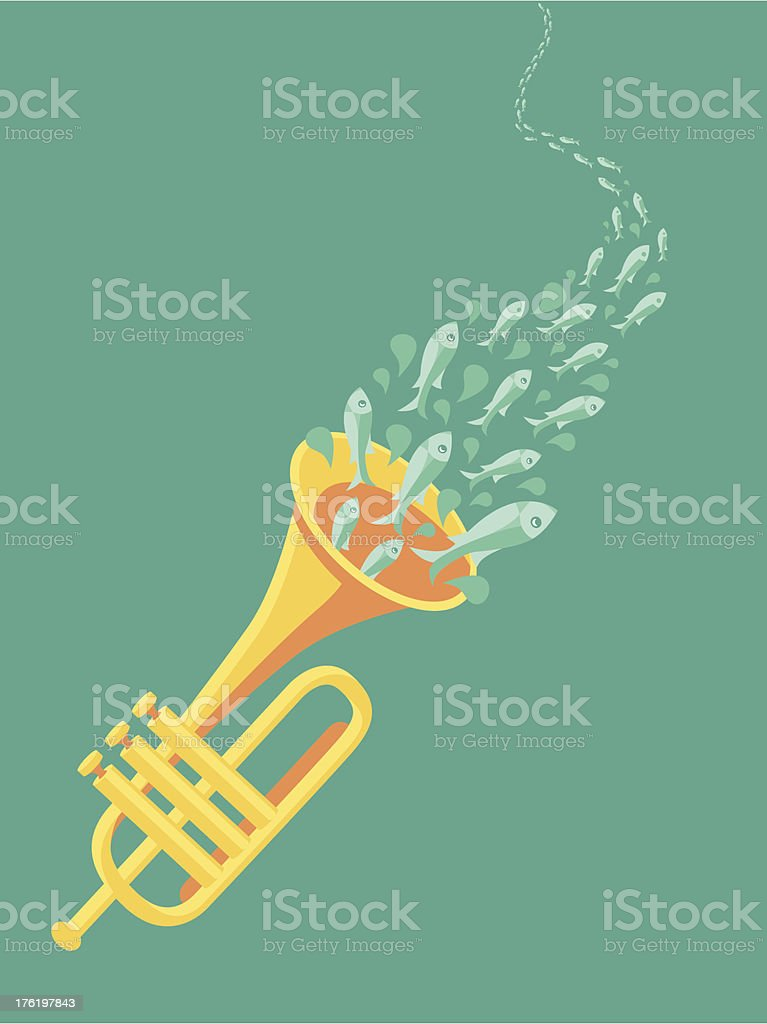 Vector music poster in flat retro style royalty-free stock vector art
