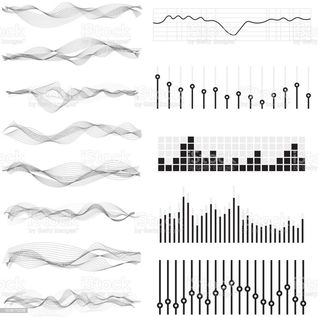 Vector Music Sound Waves Stock Illustration - Download Image