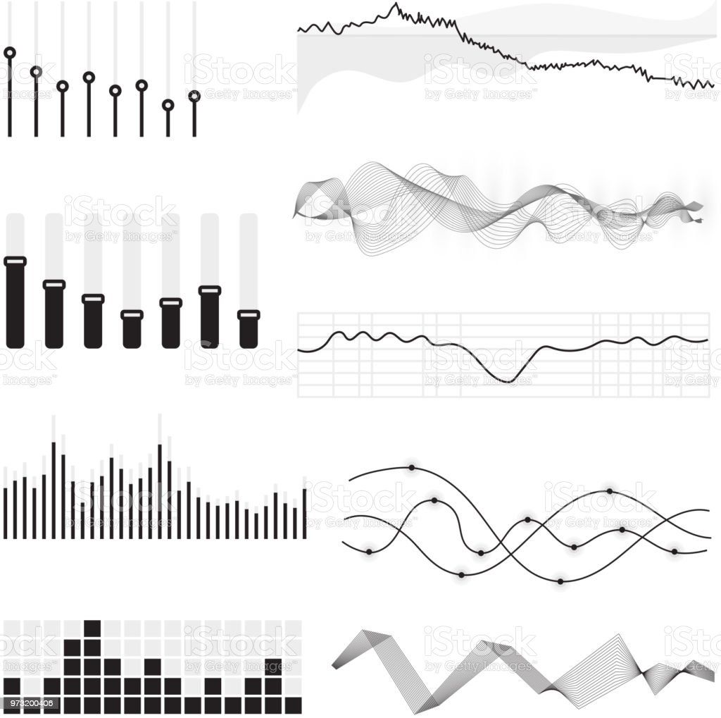 Vector Music Sound Waves Stock Illustration - Download Image
